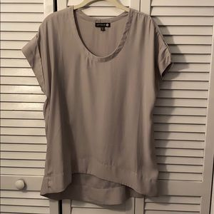 Cotton On gray short sleeve blouse